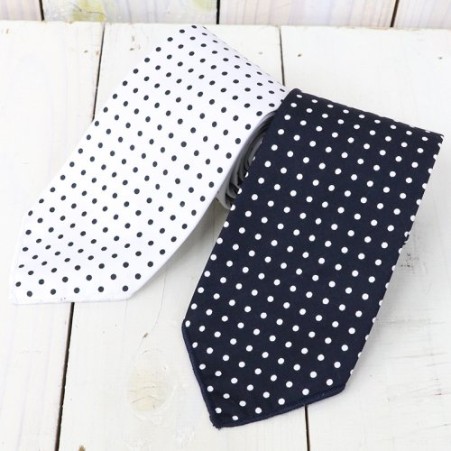 『Neck Tie-Big Polka Dot Lawn』