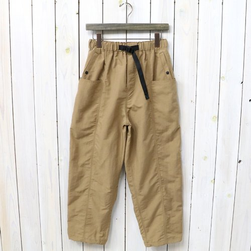 『Belted Center Seam Pant-Nylon Tussore』(Tan)