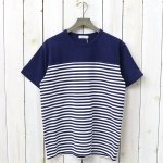 nanamica『COOLMAX® Jersey Shoulder Panel Tee』(Navy×White)
