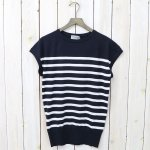 JOHN SMEDLEY『S4063-FRENCH SLEEVE』(NAVY/WHITE)