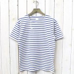 ANATOMICA『MARNIER HENLY NECK S/S』(Natural/Royal)