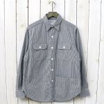 SASSAFRAS『C&P.O. APRON SHIRT(HICKORY)』(NATURAL/BLUE)