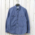 SASSAFRAS『C&P.O. APRON SHIRT(5oz CHAMBRAY)』(BLUE)