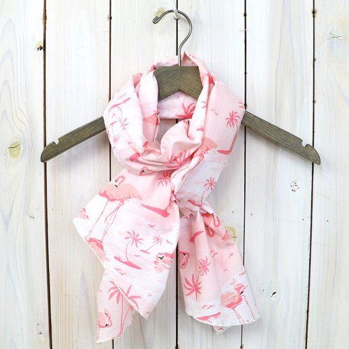『Long Scarf-Flamingo Print』