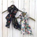 ENGINEERED GARMENTS『Long Scarf-Floral Sheeting』