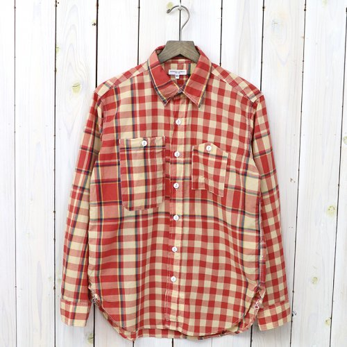 『Work Shirt-Big Plaid Madras』(Orange/Yellow)