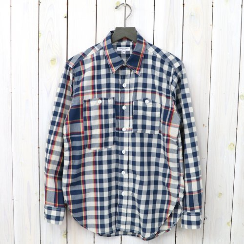 『Work Shirt-Big Plaid Madras』(Navy/Red)