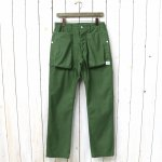 SASSAFRAS『DIGS CREW PANTS(BACK SATIN)』(OLIVE)