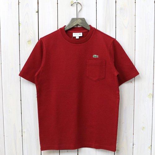 LACOSTE『コットンピケTシャツ(半袖)』(バーカンディー)