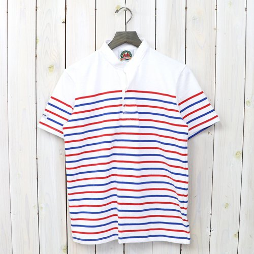 『8oz HENLY NECK S/S』(WHITE/RED/ROYAL)