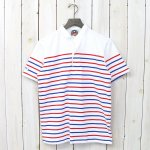 BARBARIAN『8oz HENLY NECK S/S』(WHITE/RED/ROYAL)