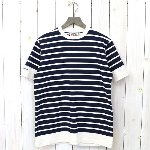 『8oz CREW NECK S/S』(IVORY/NAVY)
