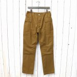 SASSAFRAS『ROOTER PAD PANTS(OXFORD)』(BROWN)