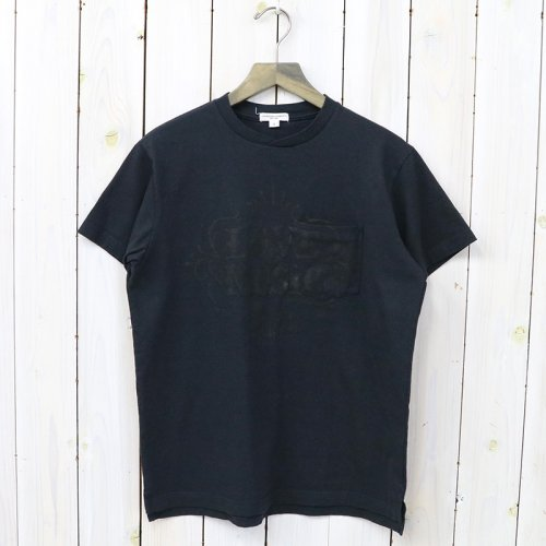 『Printed Cross Crew Neck T-shirt-Love & Music』(Dk.Navy)