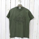 ENGINEERED GARMENTS『Printed Cross Crew Neck T-shirt-Love & Music』(Olive)
