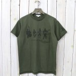ENGINEERED GARMENTS『Printed Cross Crew Neck T-shirt-Musicians』(Olive)
