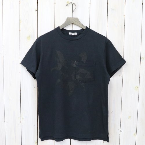 『Printed Cross Crew Neck T-shirt-Floral』(Dk.Navy)