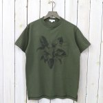 ENGINEERED GARMENTS『Printed Cross Crew Neck T-shirt-Floral』(Olive)