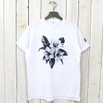 ENGINEERED GARMENTS『Printed Cross Crew Neck T-shirt-Floral』(White)