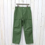 SASSAFRAS『FEEL SUNSHINE PANTS(BACK SATIN)』(OLIVE)
