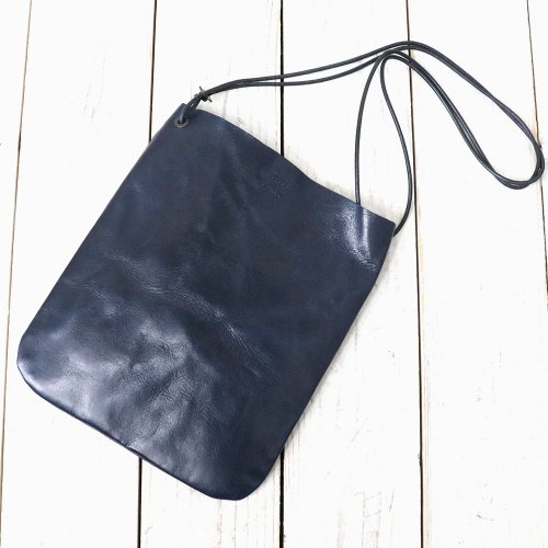 『HORSE LEATHER-FLAT SHOULDER/L』(NAVY)