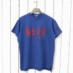 ENGINEERED GARMENTS『Printed Cross Crew Neck T-shirt-Musicians』(Royal)