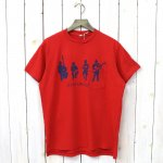 ENGINEERED GARMENTS『Printed Cross Crew Neck T-shirt-Musicians』(Red)