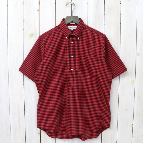 『CHECK(PULL OVER S/S)』(RED/BLACK)
