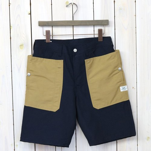 『FALL LEAF PANTS 1/2(60/40)』(NAVY/BEIGE)