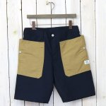 SASSAFRAS『FALL LEAF PANTS 1/2(60/40)』(NAVY/BEIGE)