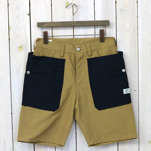 『FALL LEAF PANTS 1/2(60/40)』(BEIGE/NAVY)