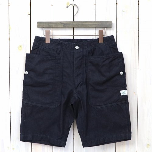 SASSAFRAS『FALL LEAF SPRAYER PANTS 1/2(WEST POINT DENIM)』(INDIGO)