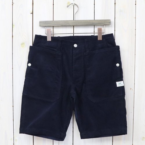 『FALL LEAF SPRAYER PANTS 1/2(SUMMER CORDUROY)』(NAVY)