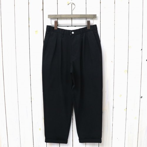 『ADVANCE WIDE TROUSERS』(BLACK)