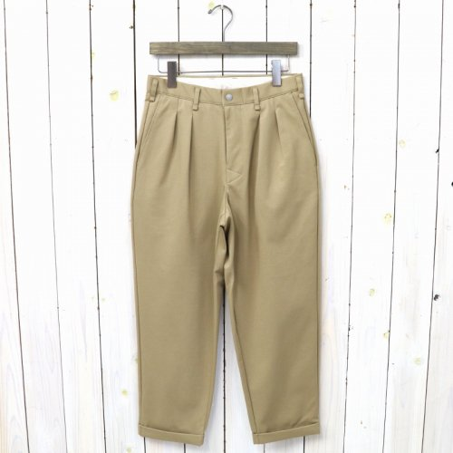 『ADVANCE WIDE TROUSERS』(BEIGE)