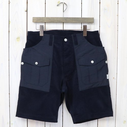 『BOTANICAL SCOUT PANTS 1/2(SUMMER CORDUROY×60/40)』(NAVY×NAVY)