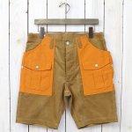 SASSAFRAS『BOTANICAL SCOUT PANTS 1/2(SUMMER CORDUROY×60/40)』(BEIGE×ORANGE)