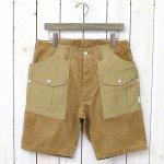 SASSAFRAS『BOTANICAL SCOUT PANTS 1/2(SUMMER CORDUROY×60/40)』(BEIGE×BEIGE)