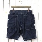 SASSAFRAS『FALL LEAF GARDENER PANTS 1/2(6oz DENIM)』(INDIGO)