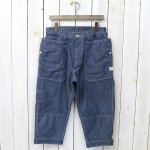 SASSAFRAS『FALL LEAF GARDENER PANTS 2/3(8oz CHAMBRAY)』(BLUE)