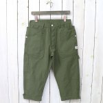 SASSAFRAS『FALL LEAF GARDENER PANTS 2/3(NYLON OXFORD)』(OLIVE)