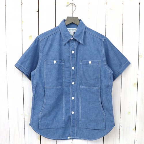 『FEEL SUN SHIRT 1/2(5oz CHAMBRAY)』(BLUE)