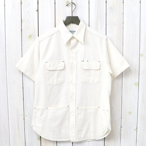 『C&P.O. APRON SHIRT 1/2(5oz CHAMBRAY)』(NATURAL)