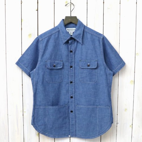 『C&P.O. APRON SHIRT 1/2(5oz CHAMBRAY)』(BLUE)