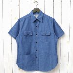 SASSAFRAS『C&P.O. APRON SHIRT 1/2(5oz CHAMBRAY)』(BLUE)