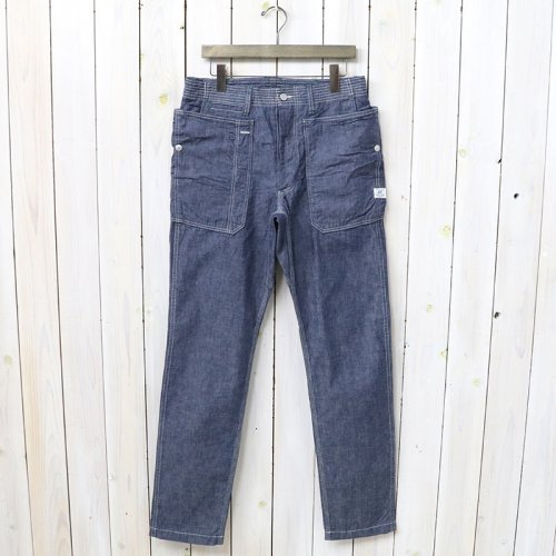 『FALL LEAF SPRAYER PANTS(8oz CHAMBRAY)』(BLUE)
