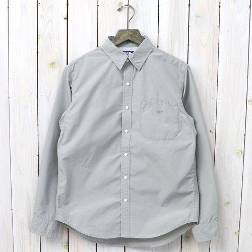 『Cotton Polyester Typewriter Shirt』(Gray)