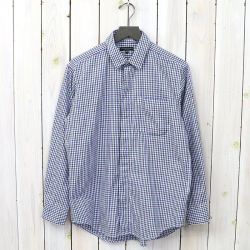 『Short Collar Shirt-Tattersall Check』(Green/Navy)
