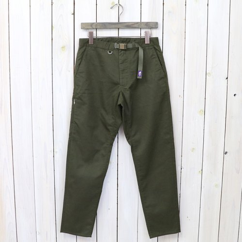 『Stretch Twill Tapered Pants』(Olive)