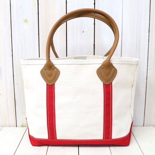 『Leather Handle Boat and Tote II』(Red)